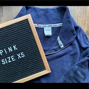 PINK oversized quarter zip